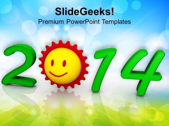 New Years Sunrise Festival Theme PowerPoint Template 1113