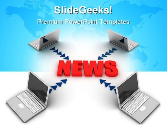 News Communication Concept Global PowerPoint Themes And PowerPoint Slides 0711
