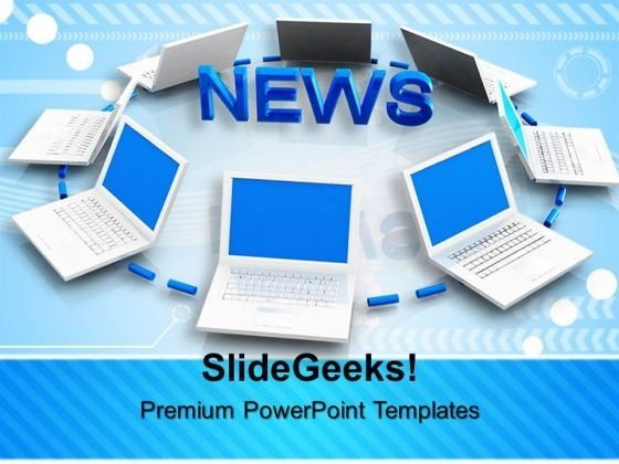 news concept internet powerpoint templates and powerpoint themes, Modern powerpoint