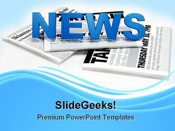 News Information Business PowerPoint Templates And PowerPoint Backgrounds 0911