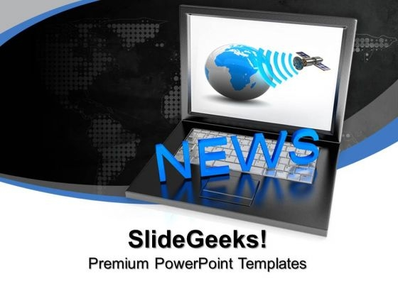 News Media Sources Internet PowerPoint Templates And PowerPoint Themes 1012