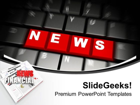 News On Computer Keyboard Future PowerPoint Templates Ppt Backgrounds For Slides 0213