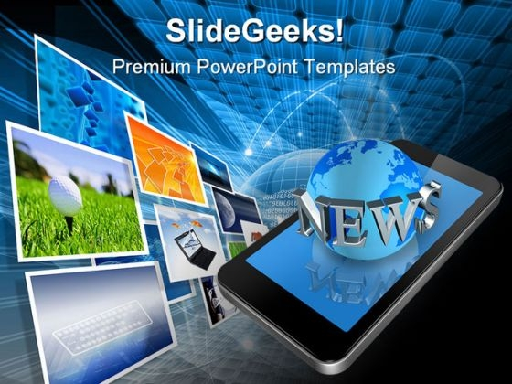 News On Mobile Communication PowerPoint Templates And PowerPoint Backgrounds 0611