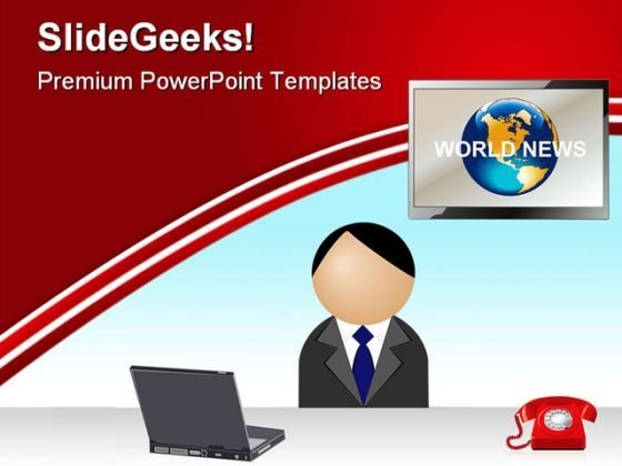 News Reporter Media PowerPoint Themes And PowerPoint Slides 0511