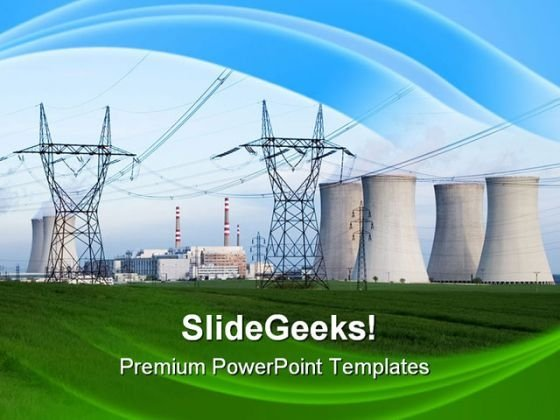 Nuclear Power Station Technology PowerPoint Templates And PowerPoint Backgrounds 0311