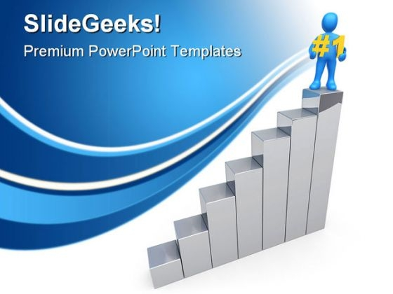 Number One In Business PowerPoint Templates And PowerPoint Backgrounds 0411