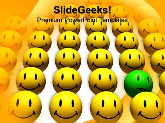Odd One Out Smiley Leadership PowerPoint Templates And PowerPoint Themes 0812