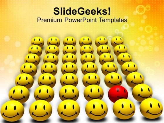 Odd One Out Smiley Spreading Happiness PowerPoint Templates Ppt Backgrounds For Slides 0113