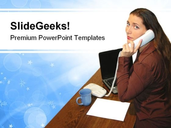Office Woman Business PowerPoint Templates And PowerPoint Backgrounds 0611