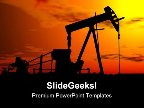 Oil Pump Industrial PowerPoint Themes And PowerPoint Slides 0311