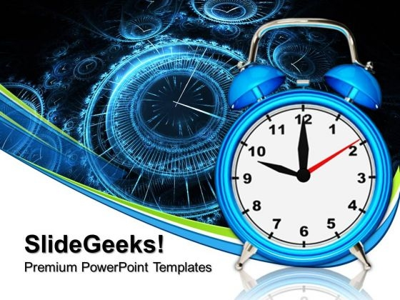 Old Fashioned Alarm Clock Future PowerPoint Templates And PowerPoint Themes 0712