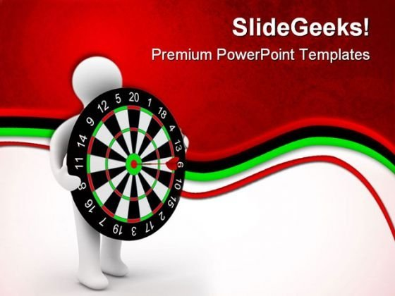 On Target Dart Game PowerPoint Templates And PowerPoint Backgrounds 0611