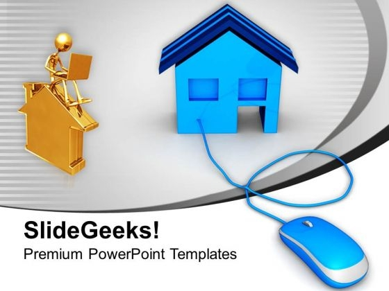 Online Buying Or Selling Home Business PowerPoint Templates Ppt Backgrounds For Slides 0213