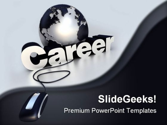 Online Career Search Education PowerPoint Background And Template 1210