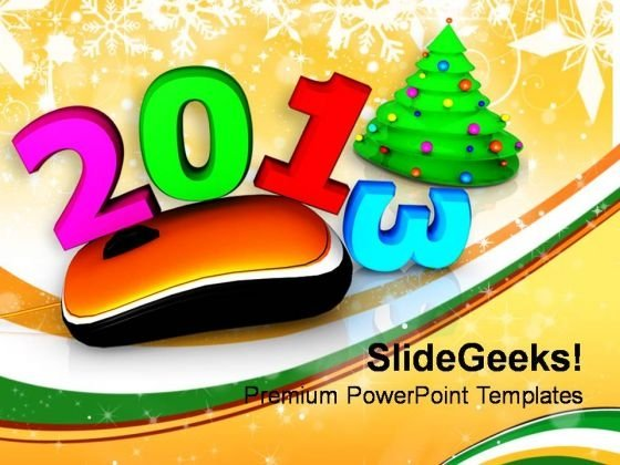 Online Celebration New Year Concept PowerPoint Templates Ppt Backgrounds For Slides 1212