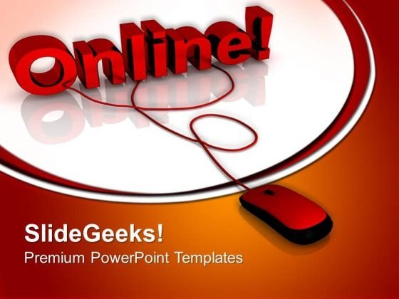 Online Connected Internet PowerPoint Templates And PowerPoint Themes 0712