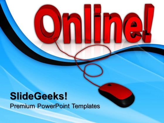 Online Connected Mouse Internet PowerPoint Templates And PowerPoint Themes 0712