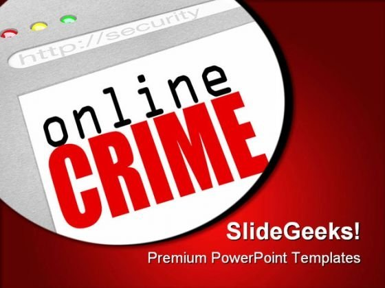 Online Crime Web Screen Internet PowerPoint Themes And PowerPoint Slides 0311