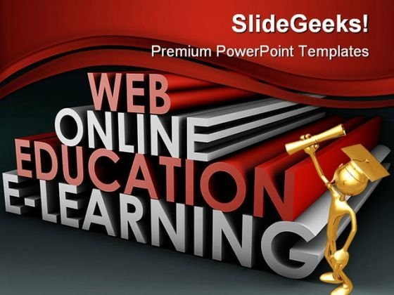 Online Education People PowerPoint Backgrounds And Templates 1210