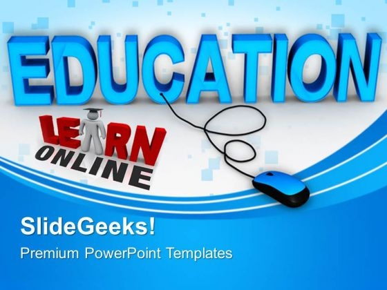 Online Education PowerPoint Templates And PowerPoint Themes 0612