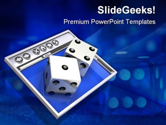 Online Gambling Game PowerPoint Templates And PowerPoint Backgrounds 0511