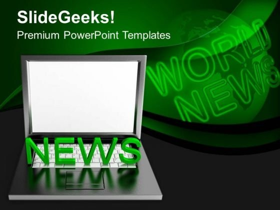 Online Latest News Information Delivery Powerpoint Templates Ppt