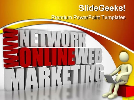 Online Marketing Business PowerPoint Themes And PowerPoint Slides 0411