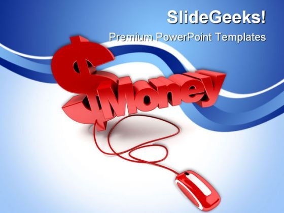 Online Money PowerPoint Background And Template 1210