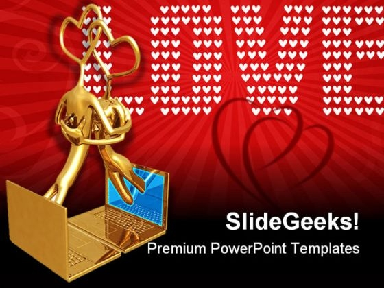 Online Romance Technology PowerPoint Themes And PowerPoint Slides 0411