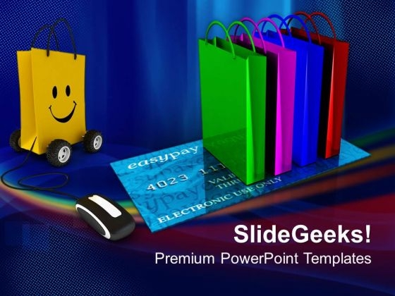 Online Shopping Internet PowerPoint Templates And PowerPoint Themes 0912