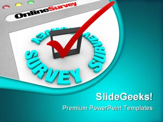 Online Survey Technology PowerPoint Themes And PowerPoint Slides 0511
