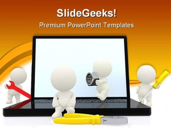 Online Tools Industrial PowerPoint Template 1110