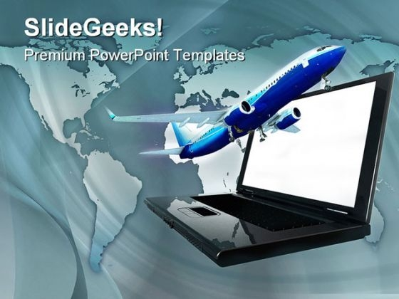 Online Travel Transportation PowerPoint Templates And PowerPoint Backgrounds 0411