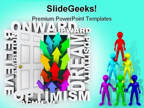Onward And Upward Leadership PowerPoint Themes And PowerPoint Slides 0211