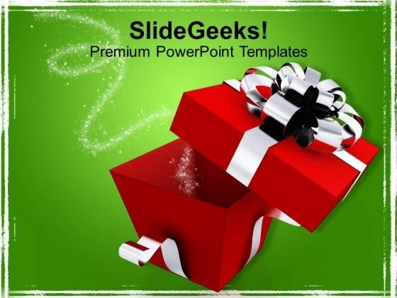 Open Box Birthday Present Events PowerPoint Templates Ppt Backgrounds For Slides 1112