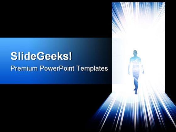 Open Door Success PowerPoint Templates And PowerPoint Backgrounds 0711