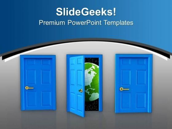 Open Door To Business Success PowerPoint Templates Ppt Backgrounds For Slides 0713
