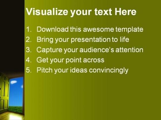 open_door_to_nature_metaphor_powerpoint_templates_and_powerpoint_backgrounds_0811_text