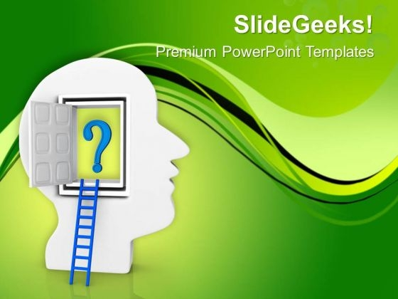 Open The Stairs Of Your Brain PowerPoint Templates Ppt Backgrounds For Slides 0613