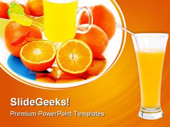 Orange Juice Food PowerPoint Themes And PowerPoint Slides 0511