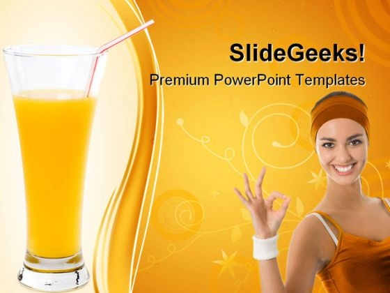 Orange Juice Health PowerPoint Templates And PowerPoint Backgrounds 0611