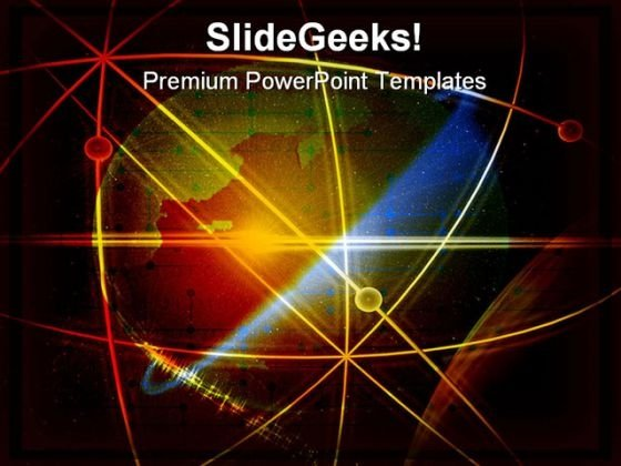 Orbit With Globe Abstract PowerPoint Themes And PowerPoint Slides 0511