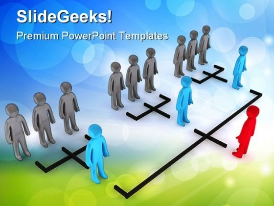 Organizational Structure Leadership PowerPoint Templates And PowerPoint Backgrounds 0211