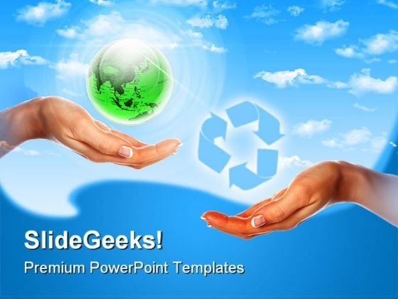 Our Own Earth Globe PowerPoint Backgrounds And Templates 1210