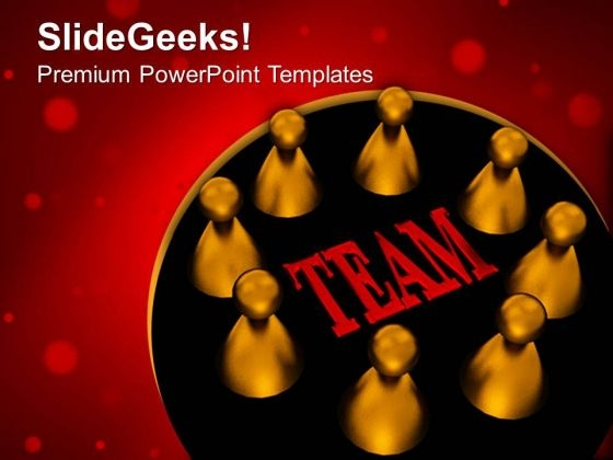 Our Team Teamwork PowerPoint Templates And PowerPoint Themes 0612