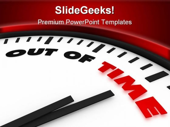 Out Of Time Business PowerPoint Background And Template 1210