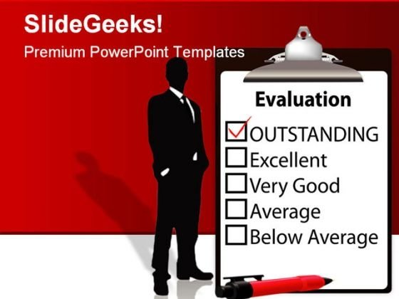 Outstanding Evalution Business PowerPoint Template 1110