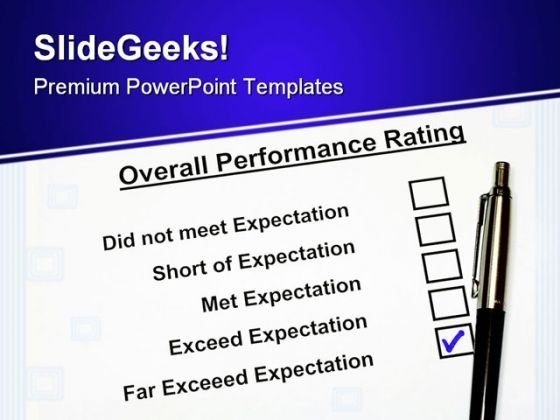 Overall Performance Rating Business PowerPoint Templates And PowerPoint Backgrounds 0511