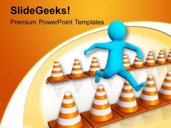 Overcome Your Business Obstacles PowerPoint Templates Ppt Backgrounds For Slides 0713