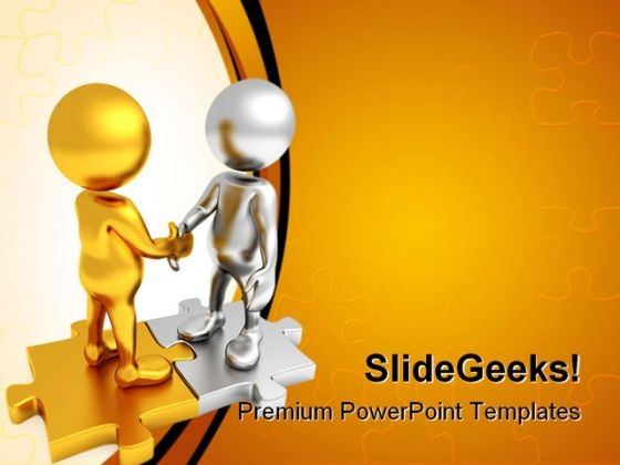 Pact Is Made Handshake PowerPoint Themes And PowerPoint Slides 0411